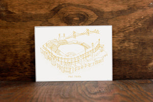 PNC Park - Pittsburgh Pirates - Stipple Art Print -