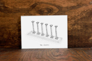 The Columns - University of Missouri Landmark Stipple Art Print