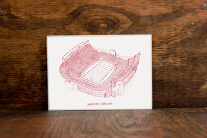 Sanford Stadium - Georgia Bulldogs - Stipple Art Print - Football Art - Georgia Bulldogs Art - Georgia Bulldogs Print