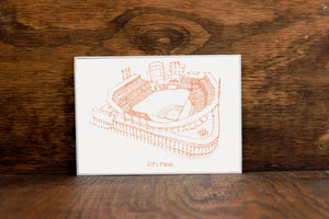 Citi Field, Home of the New York Mets, Stipple Art Print