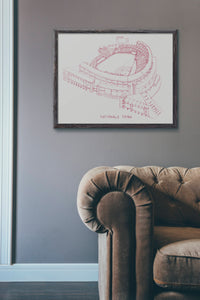 Nationals Park, Home of the Washington Nationals, Stipple Art Print