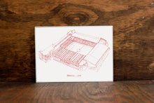 Brammal Lane, Home of Sheffield United, Stipple Art Print