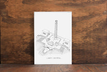 Liberty Memorial -Kansas City Landmark Stipple Art Print