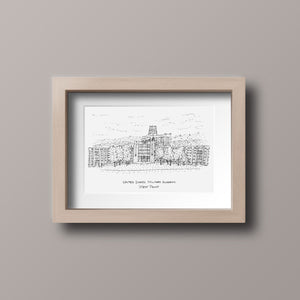 United States Military Academy - West Point - The Plain - Stipple Art