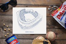 Yankees Stadium - New York Yankees - Stipple Art Print  - Baseball Art - New York Yankees Art - New York Yankees Print - Sports Art