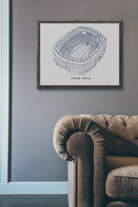 MetLife Stadium - New York Giants - Stipple Art Print - Football Art - New York Giants Art - Giants Print
