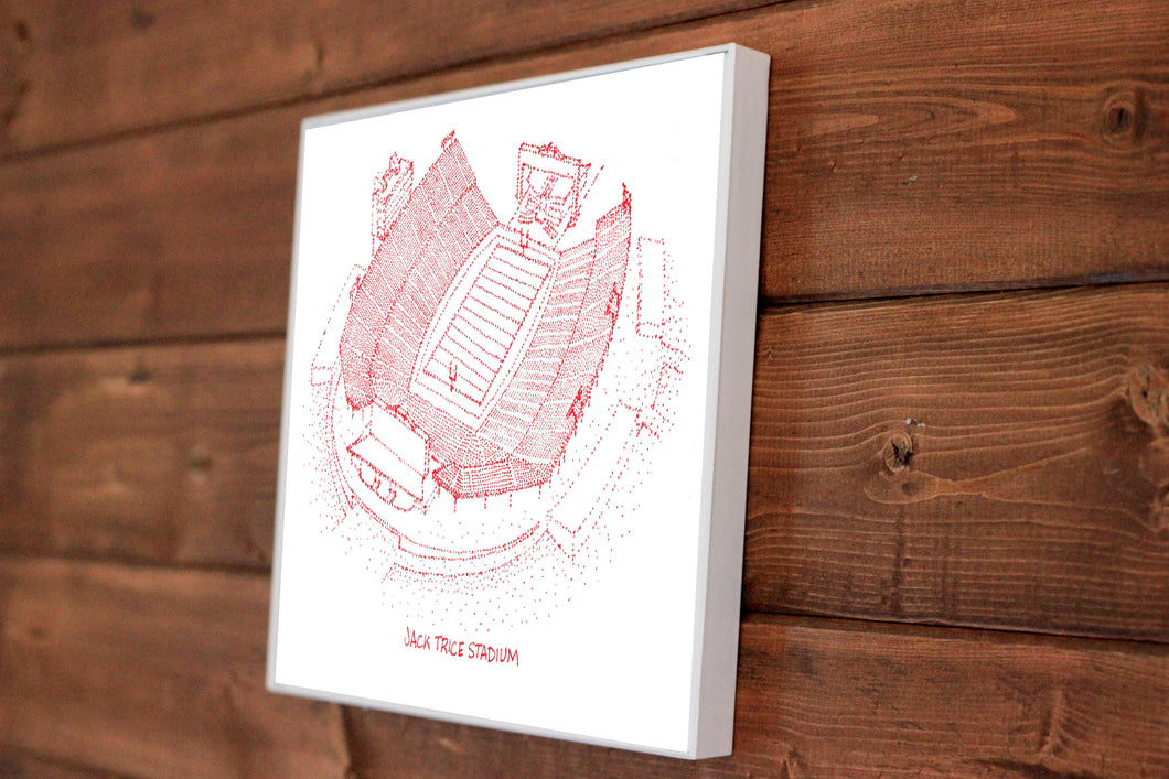 Jack Trice Stadium - Iowa State Cyclones - Stipple Art Print - Football Art - Iowa State Cyclones  Art - Iowa State Cyclones Print