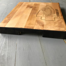 NFL Butcher Block Cutting Board - Steelers - Jets - Patriots - Packers - Giants - Broncos - Lions - Football Cutting Board - Stipple Art