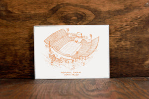 Memorial Stadium - Clemson Tigers - Stipple Art Print - Football Art - Clemson Tigers Art - Tigers Print
