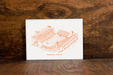 Memorial Stadium, Fighting Illini, Stipple Art Print