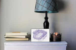 Tiger Stadium, Home of the LSU Tigers, Stipple Art Print