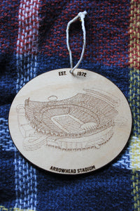 Arrowhead Stadium - Kansas City Chiefs - Stipple Drawing Ornament - Kansas City Chiefs Ornament - Arrowhead Stadium Ornament - Christmas