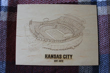 Wood Art - Arrowhead Stadium - Kansas City Chiefs - Stipple Drawing - Gallery Wall - Wall Decor - Kansas City Chiefs Art