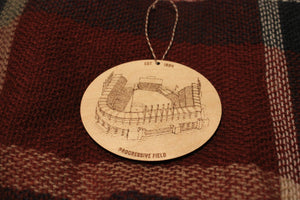 Progressive Field - Cleveland Indians - Stipple Drawing Ornament - Cleveland Indians Ornament - Wood Ornament - Christmas