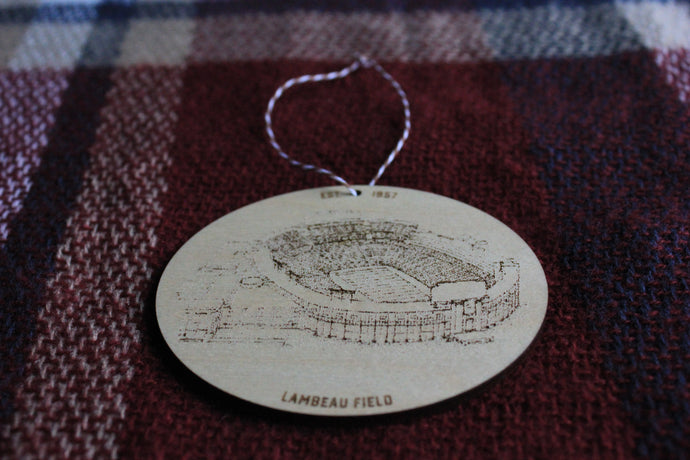 Lambeau Field - Green Bay - Stipple Drawing Ornament - Green Bay Ornament - Lambeau Field Ornament - Christmas
