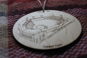 Fenway Park - Boston Red Sox - Stipple Drawing Ornament - Boston Red Sox Ornament - Fenway Ornament - Christmas