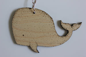 Whale - Stipple Drawing Ornament - Christmas