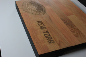 MetLife Stadium, Home of the New York Giants, Butcher Block Cutting Board