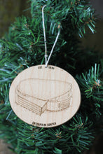 Enterprise Center, Home of the St Louis Blues, Stipple Art Wood Ornament
