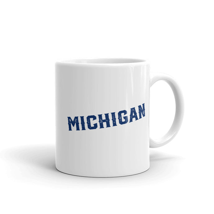 Michigan Stadium - Michigan Wolverines - Stipple Art Mug - Stipple Drawing - College Football Mug - Michigan Wolverines Art - Michigan