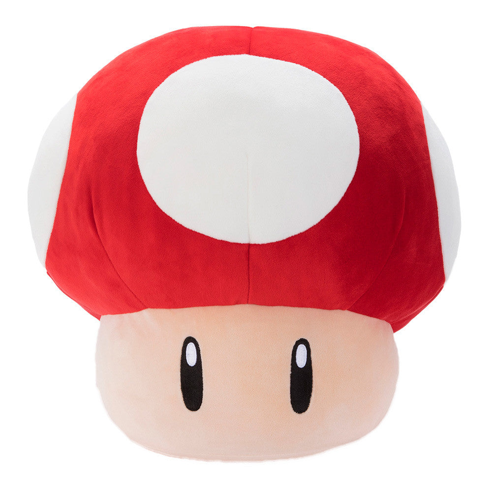 TOMY Club Mocchi-Mocchi Nintendo Super Mushroom Red Large Cushion Plush T12955A
