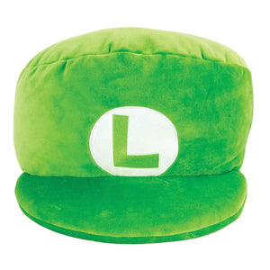 TOMY Club Mocchi-Mocchi Nintendo Luigi Hat Large Cushion Plush T12962