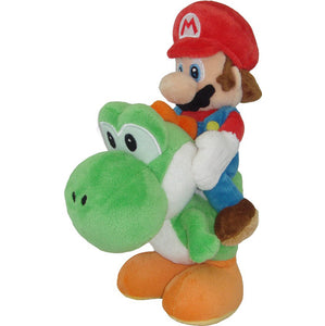 Little Buddy Super Mario Series Mario Riding Yoshi Plush, 8""