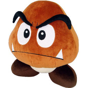 Little Buddy Super Mario Series Goomba Large Plush, 12