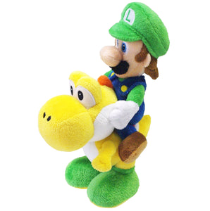 Little Buddy Super Mario Series Luigi Riding Yoshi Plush, 8""