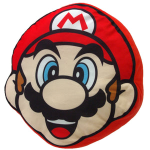 Little Buddy Super Mario Series Mario Face Pillow Cushion Plush, 11""