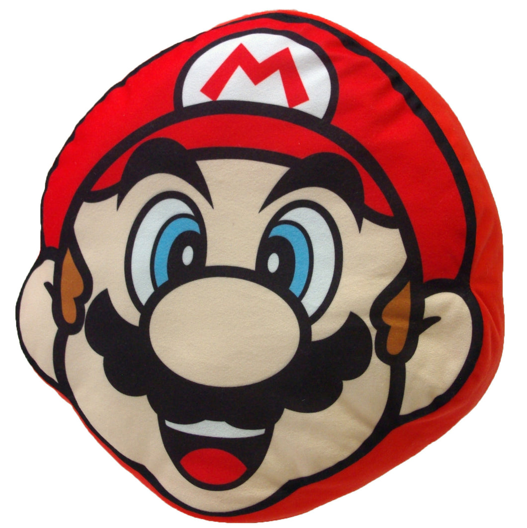 Little Buddy Super Mario Series Mario Face Pillow Cushion Plush, 11