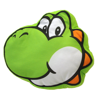 Little Buddy Super Mario Series Yoshi Face Pillow Cushion Plush, 12