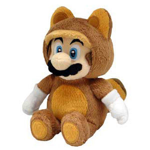 Little Buddy Super Mario Series Tanooki Raccoon Mario Plush, 9""