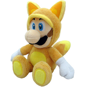 Little Buddy Super Mario Series Kitsune Fox Luigi Plush, 9""