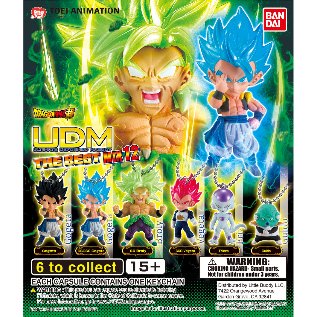 Dragon Ball Super UDM Figure Series The Best 12 Gashapon (Bag of 50 Capsules)