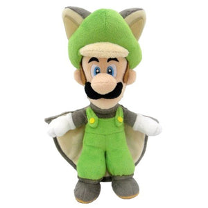 Little Buddy Super Mario Series Flying Squirrel Luigi Plush, 9""
