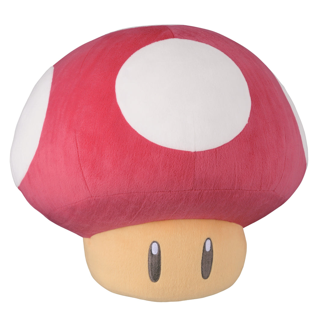 Little Buddy Super Mario 30th Anniversary Red Super Mushroom Large Pillow Plush, 13