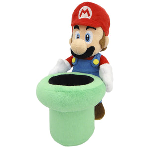 Little Buddy Super Mario Series Mario Holding Warp Pipe Plush, 9""