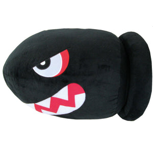 Little Buddy Super Mario Series Banzai Bill Pillow Cushion Plush, 15""