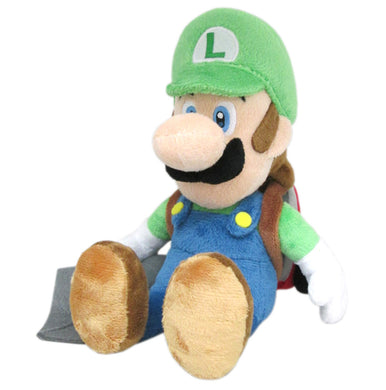 Little Buddy Super Mario Series Luigi w/ Ghost Vacuum Poltergust Plush, 7