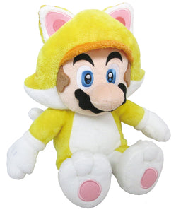 Little Buddy Super Mario 3D World Series Medium Neko Cat Mario Plush, 12""