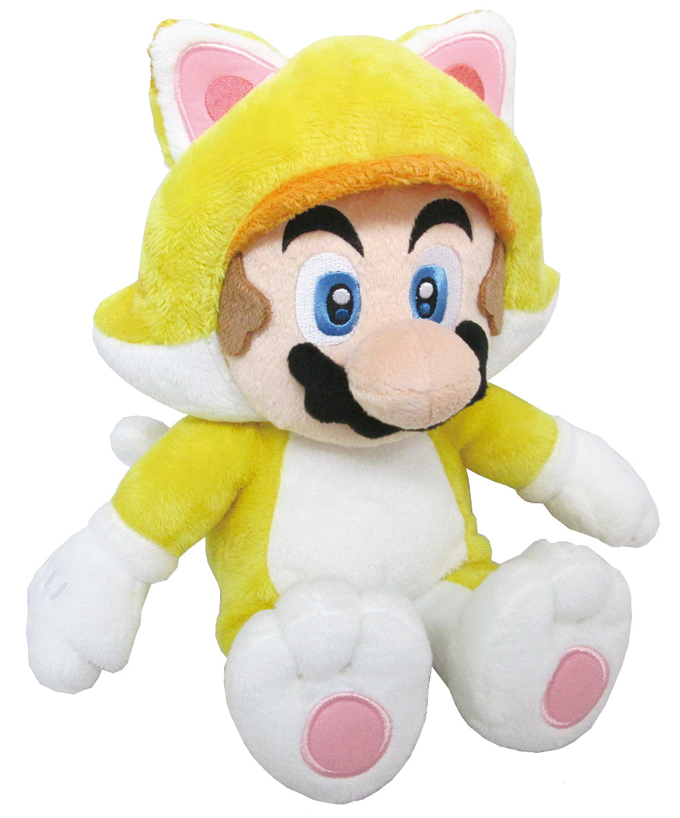 Little Buddy Super Mario 3D World Series Medium Neko Cat Mario Plush, 12