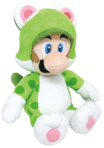 Little Buddy Super Mario 3D World Series Medium Neko Cat Luigi Plush, 14""