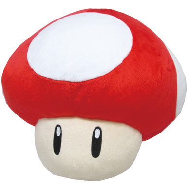 Little Buddy Super Mario Series Super Mushroom Pillow Cushion Plush, 11