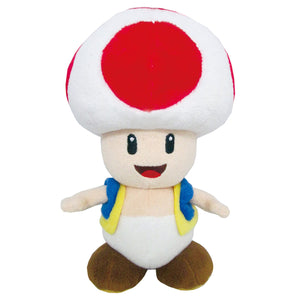 Little Buddy Super Mario All Star Collection Toad Plush, 7.5""