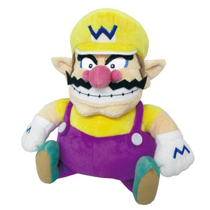 Little Buddy Super Mario All Star Collection Wario Plush, 10""