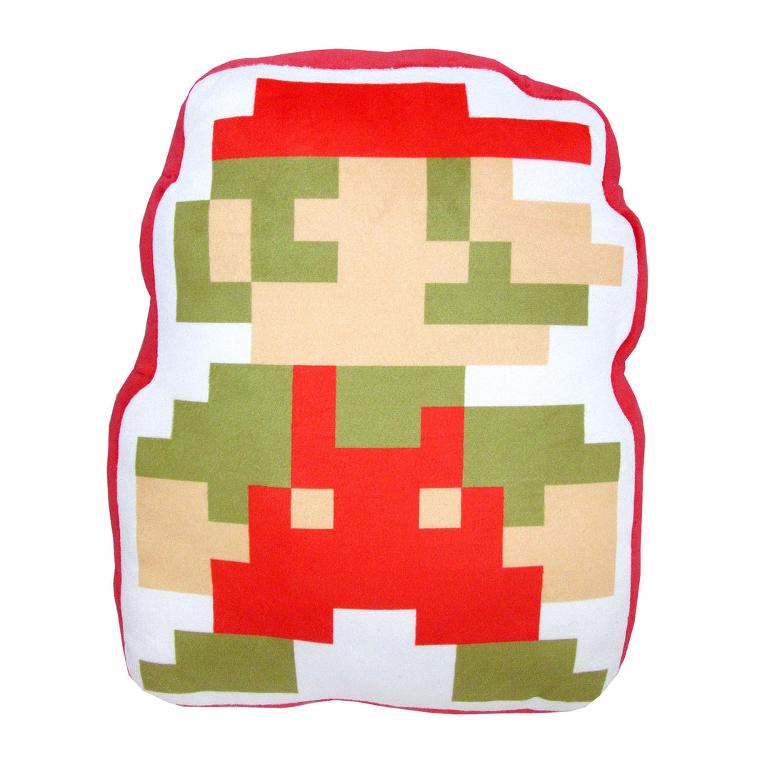 Little Buddy Super Mario Series 8-Bit Mario Pillow Cushion Plush, 14