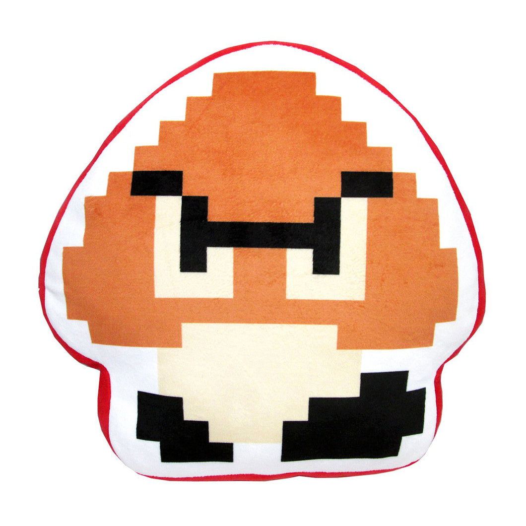 Little Buddy Super Mario Series 8-Bit Goomba Pillow Cushion Plush, 12.5