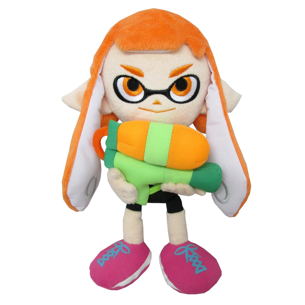 Little Buddy Splatoon Female Inkling Girl Orange Plush, 9