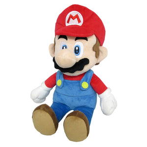 Little Buddy Super Mario All Star Collection Mario (Medium) Plush, 14""